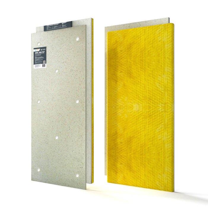 ЗИПС-Вектор сэндвич-панель звукоизоляционная 1200х600х40 мм с комплектом крепежа